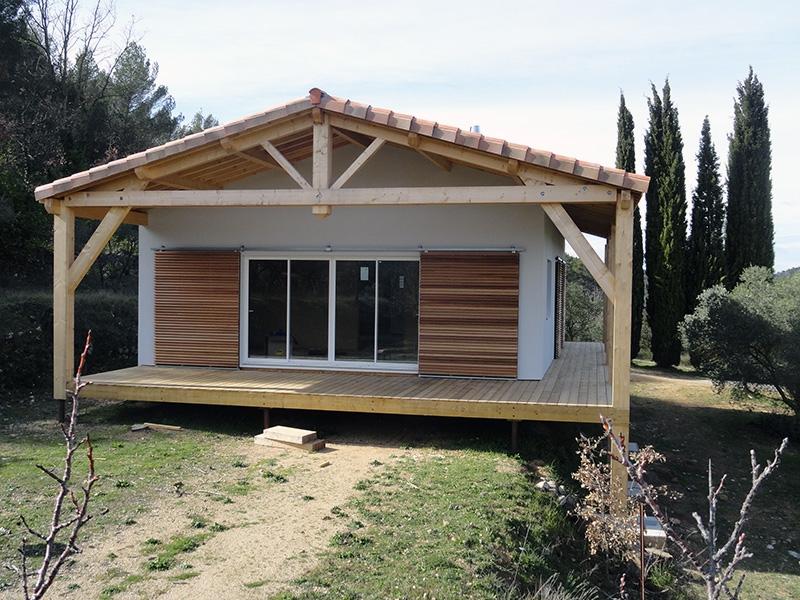 Maison Ossature Bois Gard - interesting maison ossature bois sur pilotis ralise barjols var paca with maison bois gard
