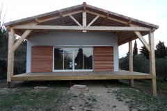 Maison ossature bois sur pilotis réalisée à Barjols var PACA (3)