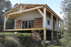 Maison ossature bois sur pilotis réalisée à Barjols var PACA (4)