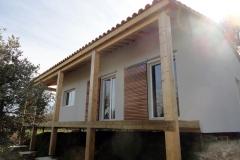 Maison ossature bois sur pilotis réalisée à Barjols var PACA (5)
