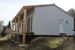Maison ossature bois sur pilotis réalisée à Barjols var PACA (6)