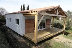 Maison ossature bois sur pilotis réalisée à Barjols var PACA (7)