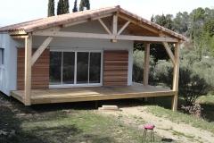 Maison ossature bois sur pilotis réalisée à Barjols var PACA (8)