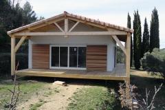 Maison ossature bois sur pilotis réalisée à Barjols var PACA (9)