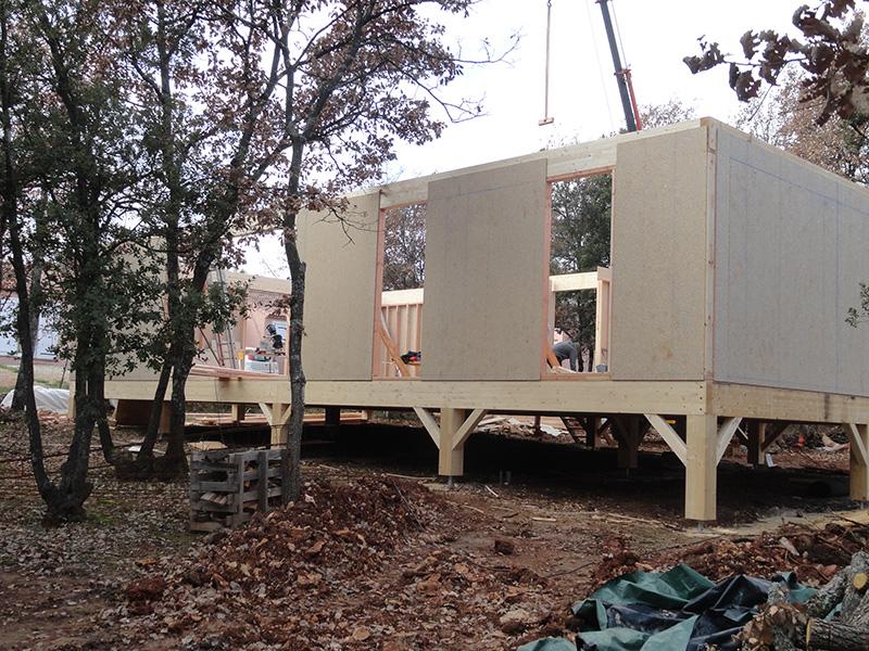 Maison ossature bois chantier en cours de construction st maximin (1)
