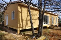 Maison ossature bois sur pilotis en enduit de facade réalisée à Saint Maximin la Sainte Baume var PACA (2)