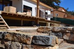 maison ossature bois contemporaine avec bardage red cedar et enduit menuiseries aluminium terrasse (13)