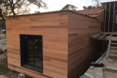 maison ossature bois contemporaine avec bardage red cedar et enduit menuiseries aluminium terrasse (17)
