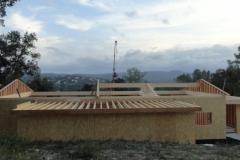 maison ossature bois contemporaine avec bardage red cedar et enduit menuiseries aluminium terrasse (5)