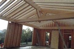 maison ossature bois contemporaine avec bardage red cedar et enduit menuiseries aluminium terrasse (6)