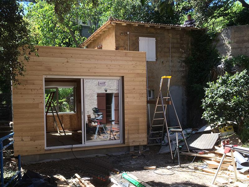 Réalisation agrandissement maison bois