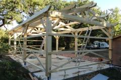 Hangar charpente traditionnelle à Tourves réalisation OSSBOIS