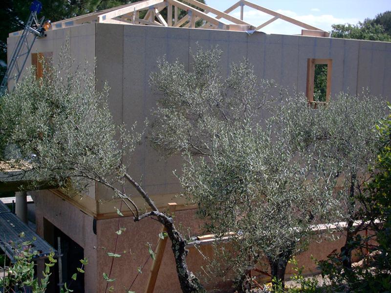 rehausse maison ossature bois amazing surlvation u m with. Black Bedroom Furniture Sets. Home Design Ideas