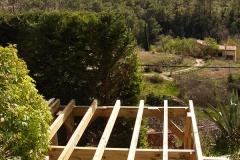 Terrasse bois sur pilotis à Cotignac réalisation OSSBOIS