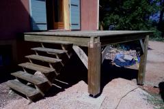 Terrasse bois pin autoclave à Bras réalisation OSSBOIS