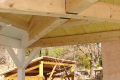 Tonnelle charpente traditionnelle bois à Camps réalisation OSSBOIS