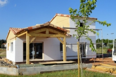 Construction maison ossature bois avec isolation extérieure à Le Luc dans le Var (3)