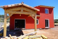 Construction maison ossature bois avec isolation extérieure à Le Luc dans le Var (7)