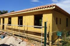 Maison à ossature bois RT 2012, isolation extérieure, à Rocbaron dans le Var (2)
