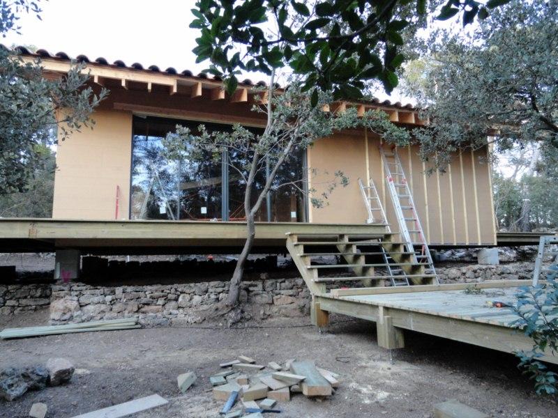 Maison ossature bois sur pilotis good maison ossature for Extension maison ossature bois sur pilotis