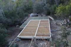 Maison ossature bois sur pilotis en bardage meleze entouré d'une terrasse bois à LE VAL 83143 dans le VAR region PACA [800x600] (22)