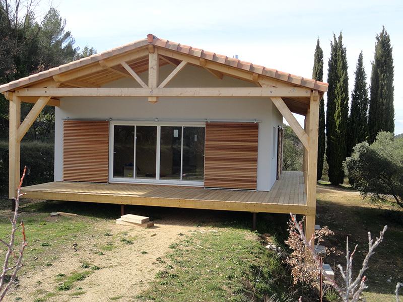 maison ossature bois sur pilotis r alis e barjols var paca 1. Black Bedroom Furniture Sets. Home Design Ideas