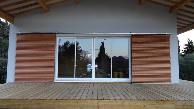 Maison ossature bois sur pilotis réaliséeà Barjols var PACA (2) # Maison Ossature Bois Paca