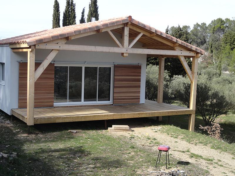 maison ossature bois sur pilotis r alis e barjols var paca 8. Black Bedroom Furniture Sets. Home Design Ideas